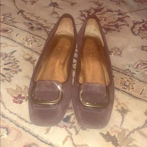 Talbots suede brown flats